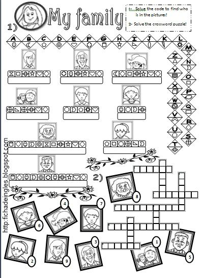 Learning Is Fun Family Worksheets Ejercicios De Ingles