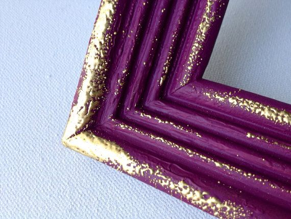 A Little Gold Embossing Freshens Up An Upcycled Frame At This Etsy