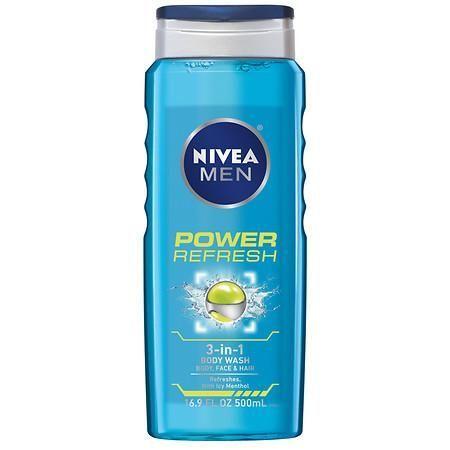 Nivea Men Power Refresh 3 In 1 Body Wash Body Wash Mens Body Wash Nivea