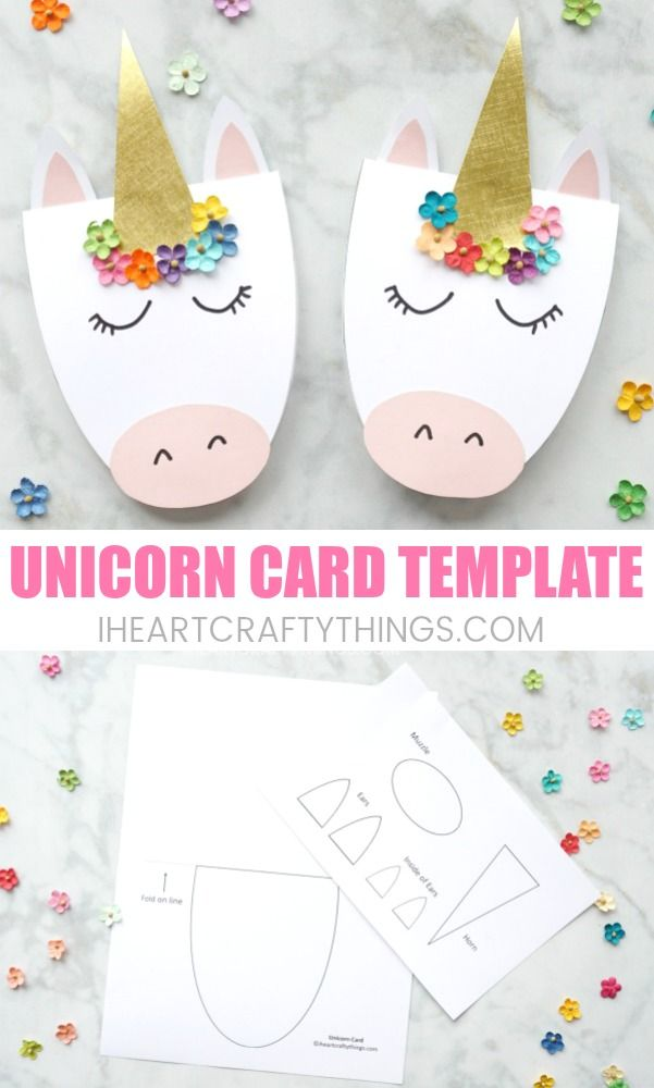 How To Make A Simple Diy Unicorn Card 4th Birthday Pinterest