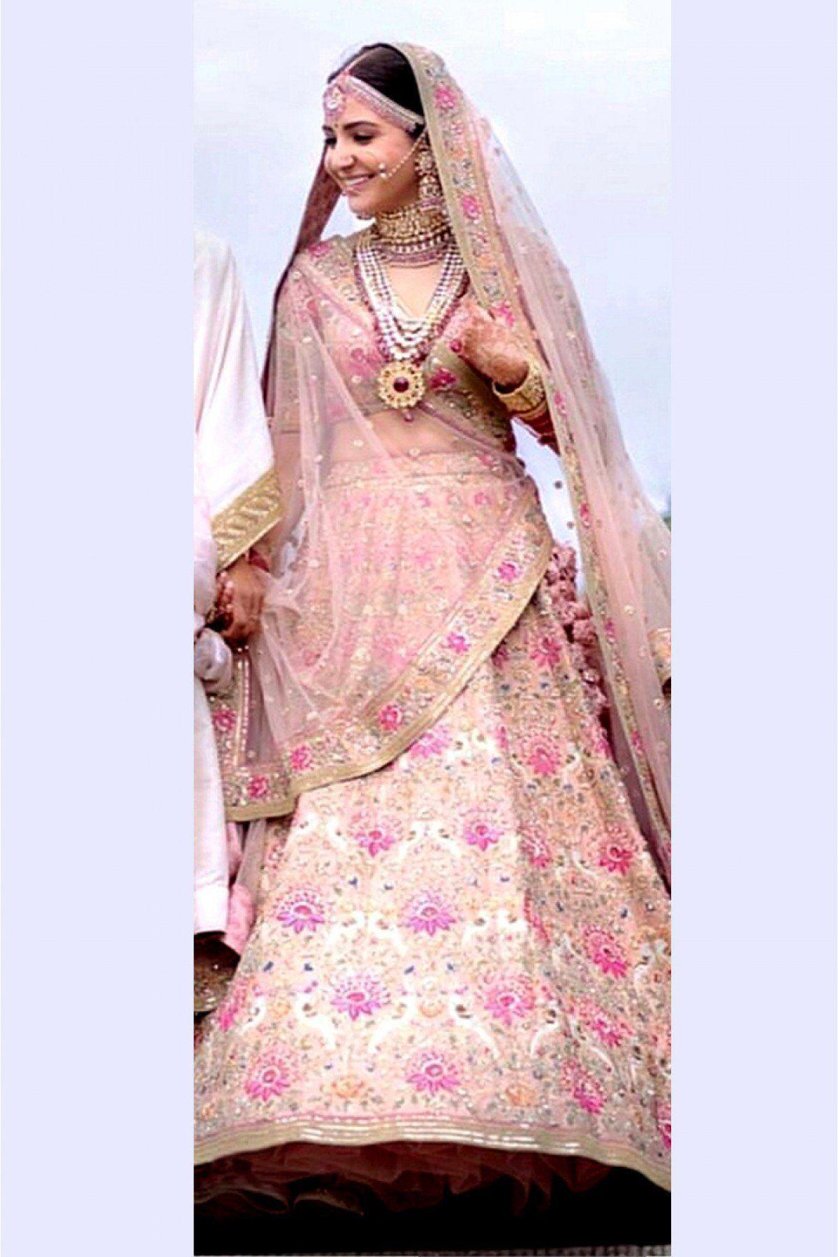 Anushka Sharma Banglori Silk Lehenga Choli In Pastel Peach ...