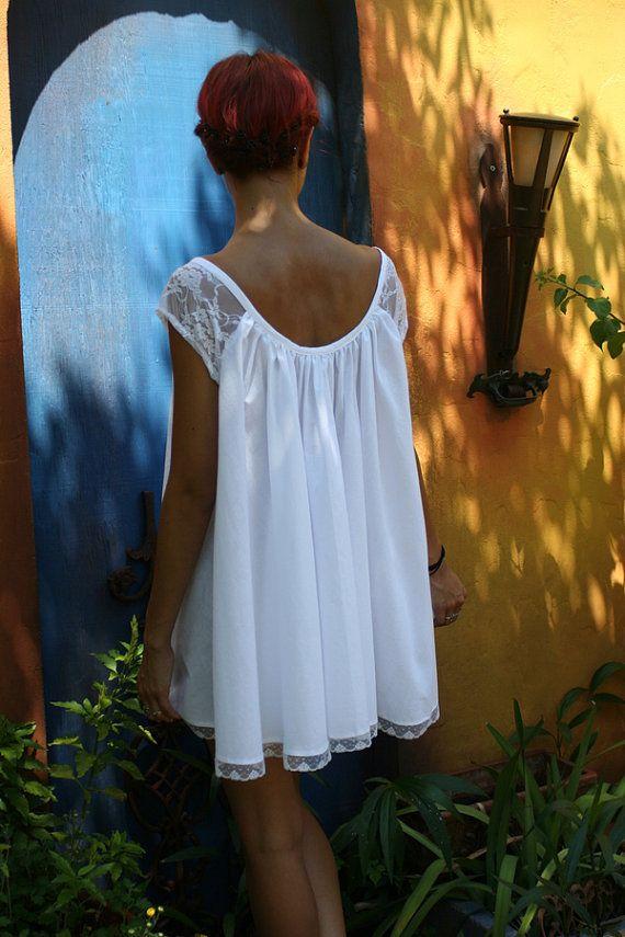 77385f288 Camisón de muñeca de bebé algodón blanco Shabby Chic pleno   Dresses ...