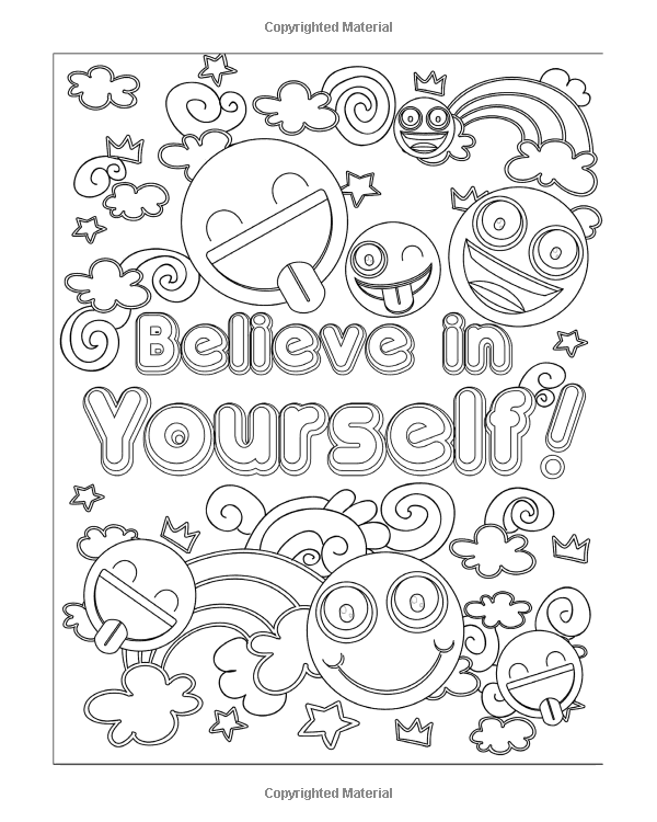 Amazon Com Emoji Coloring Book For Girls 50 Super Fun And Amazing Inspirational Quotes Cute Animals Love Coloring Pages Emoji Coloring Pages Coloring Pages