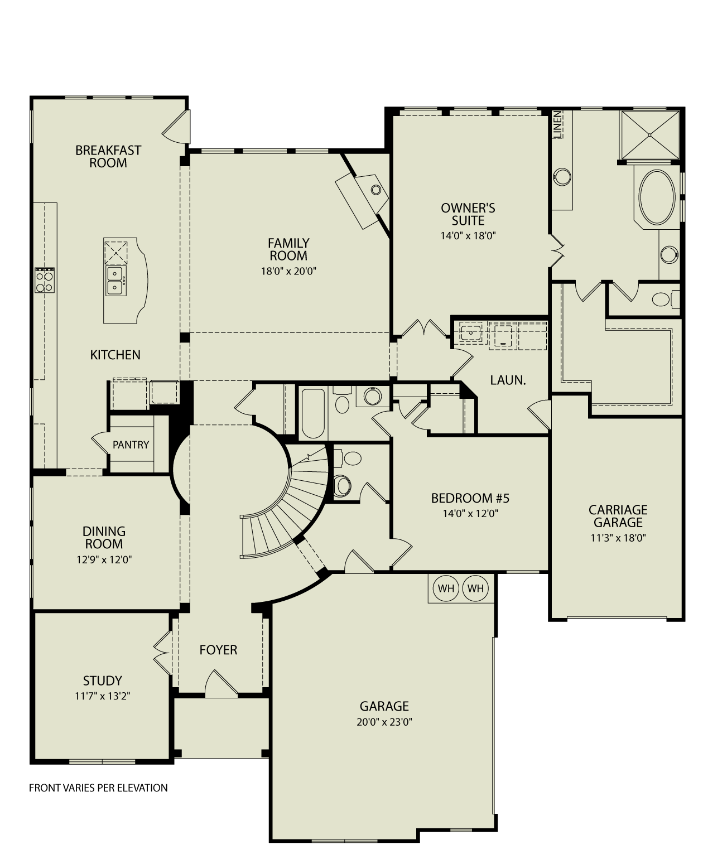SACRAMENTO III, 123 Drees Homes Interactive Floor Plans