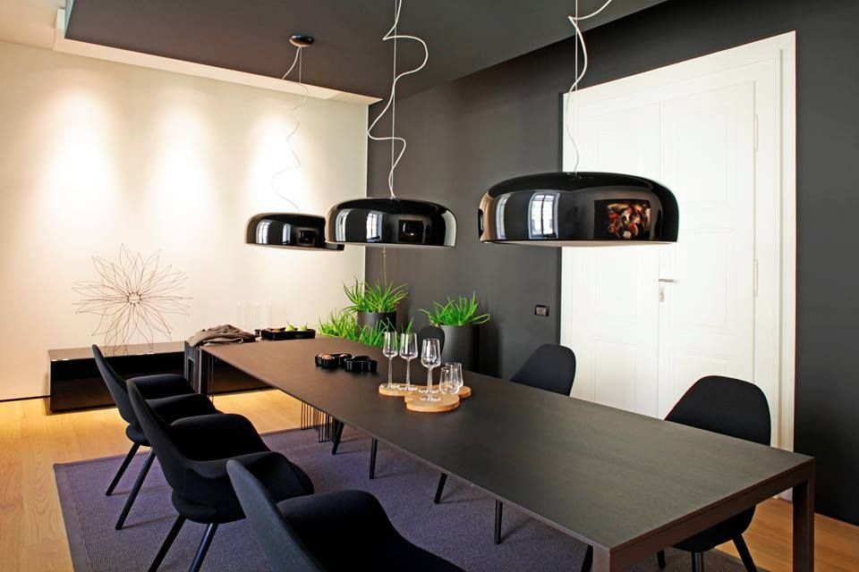 Smithfield S Suspension Dimmable Pendant Lamp In Led Or Halogen Minimalist Dining Room Modern Dining Room Flos Smithfield