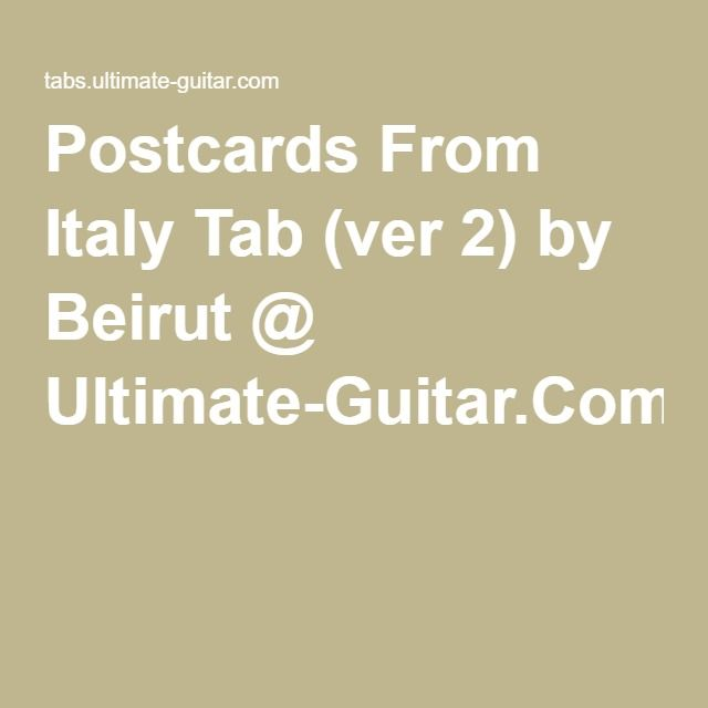 Beirut Postcards From Italy Trumpet Piano Songs Pinterest