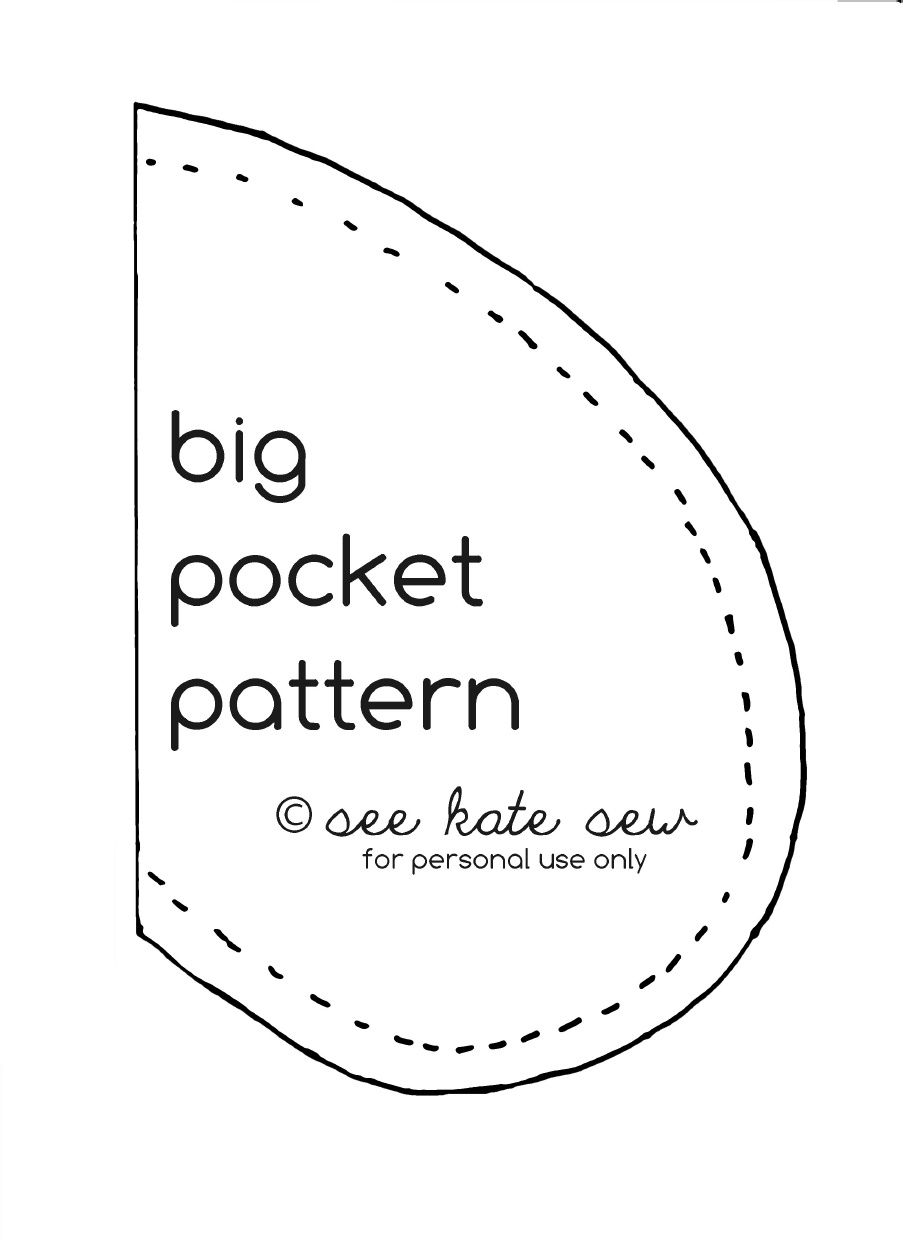 image about Pocket Pattern Printable identified as Significant Pocket Behavior - At present I can incorporate pockets in direction of all all those