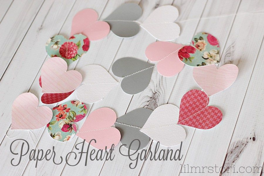 Paper Heart Garland How To