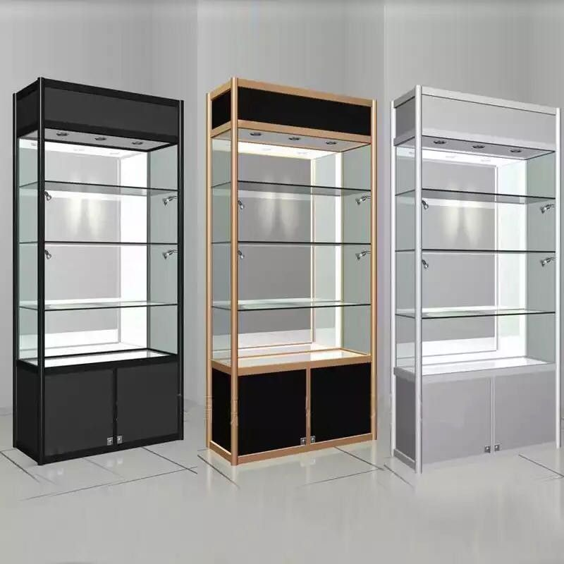 Glass Display Showcase Display Cabinet Store Design Interior Cabinets For Sale Display Shelves