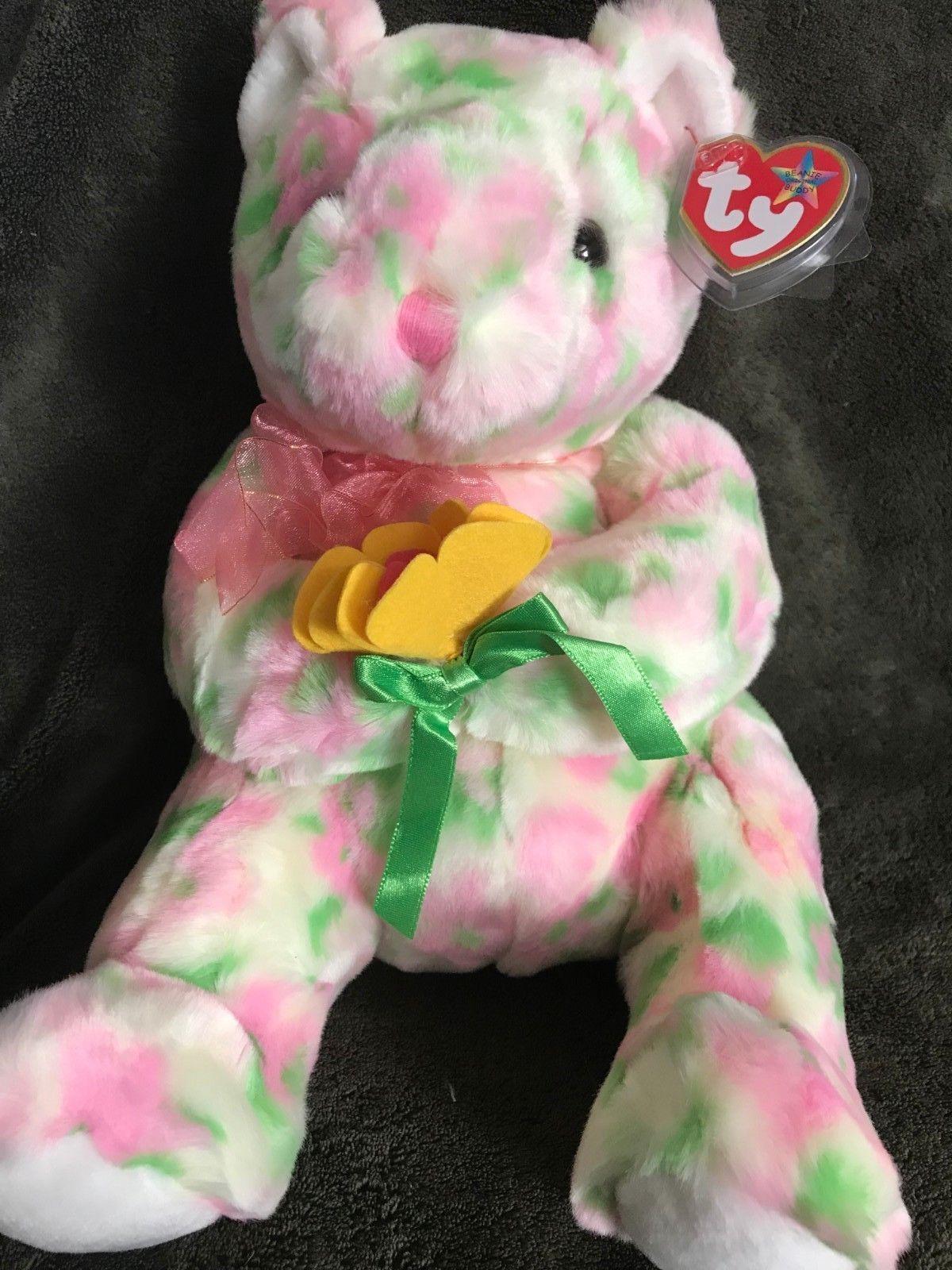 TY Beanie Buddy BLOOM the Bear 12 MWMT Vintage Stuffed Animal Toy ... fc85f3013594