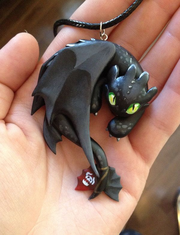 Toothless Necklace Angry/Growling van Gatobob op Etsy