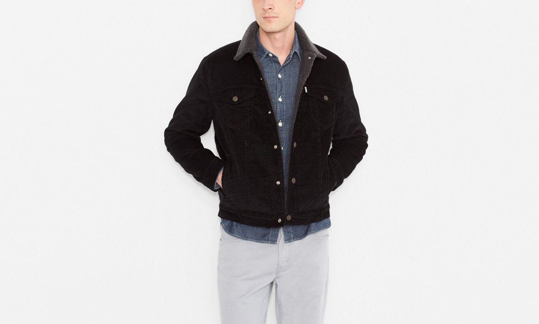 ba0a8a52 Sherpa Trucker Jacket | Black | Jackets | Clothing | Men | Levi's | Ireland
