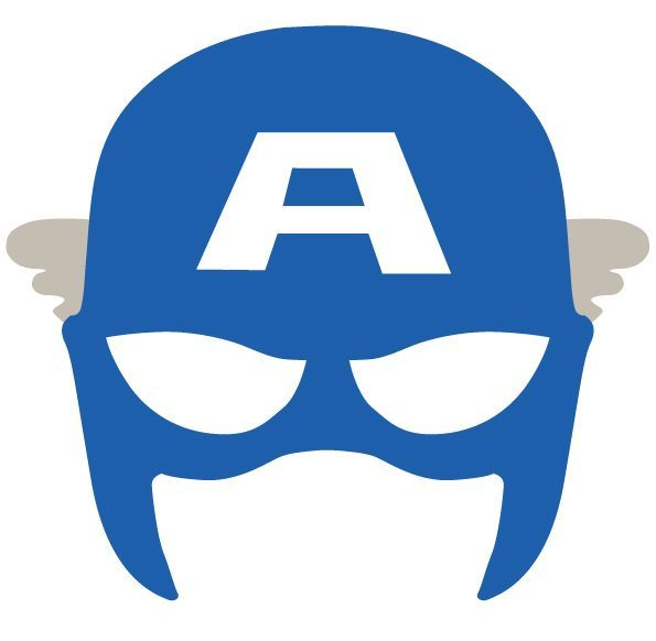 Selective image for captain america mask printable