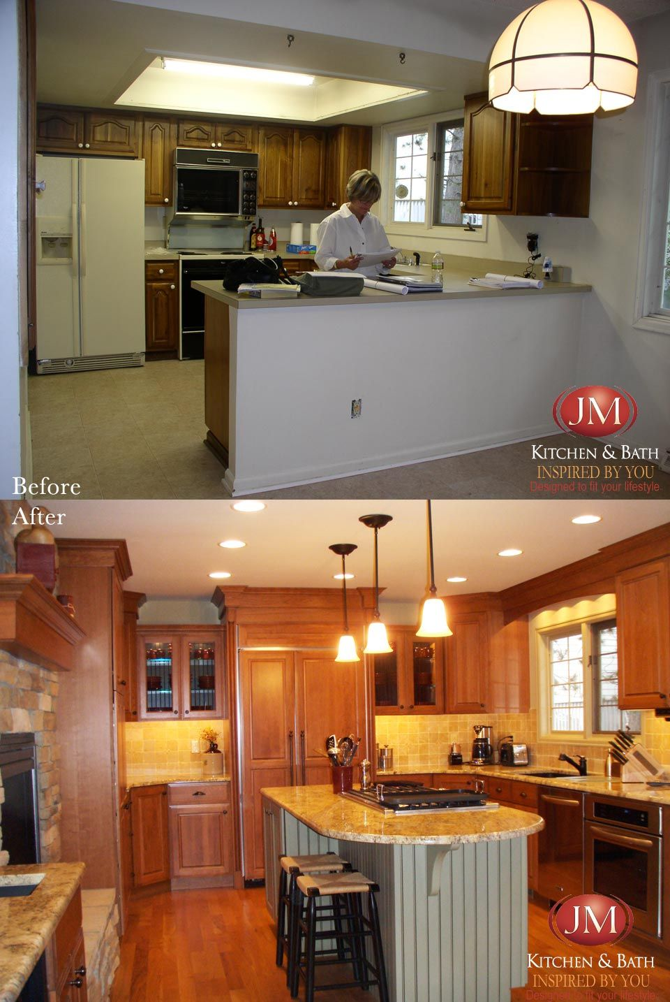 Before and after kitchen remodel #Denver #CO by @JM Kitchen and Bath ...