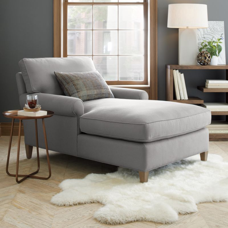 Montclair Chaise Living Room Chaise Furniture Grey Chaise Lounge