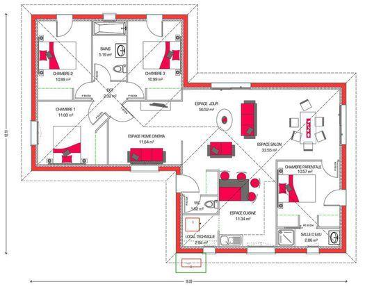 Modèle de maison Villa Hortense -  Retrouvez tous les types de - modeles de maison a construire