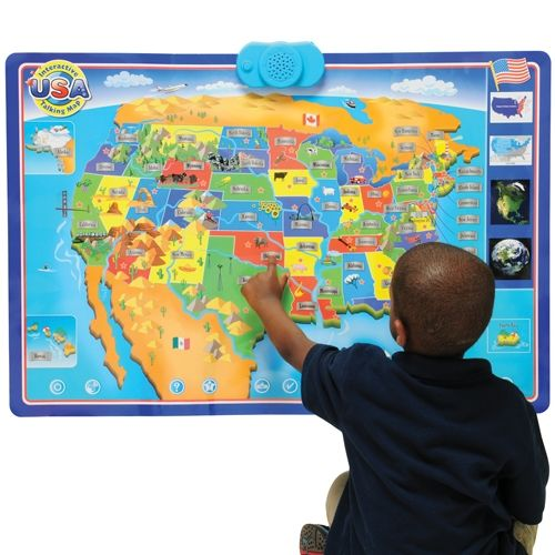 Interactive Talking USA Wall Map from CP Toys on Catalog Spree, my personal digital mall.
