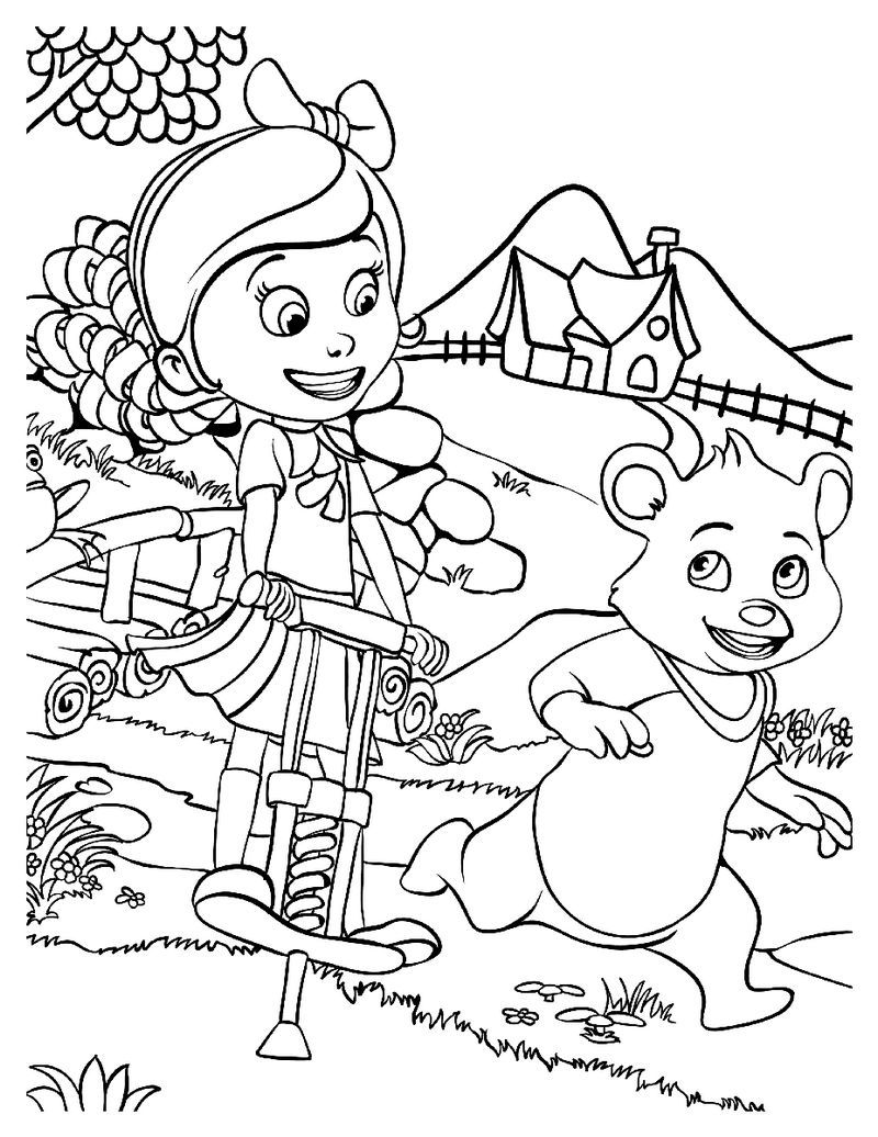 Goldie And Bear Fairy Tale Forest Adventures Coloring Sheet Bear Coloring Pages Disney Coloring Pages Fairy Tale Forest