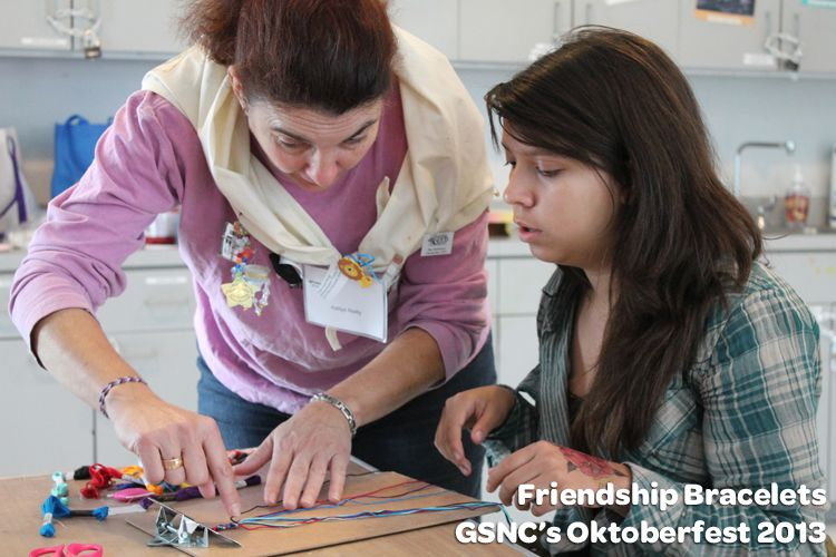 @Girl Scouts of Nassau County Oktoberfest 2013 Friendship Bracelet Workshop. Learn more about the upcoming Oktoberfest Weekend at Camp Blue Bay #GirlScouts #GSVolunteers #Camping #CampingWeekend