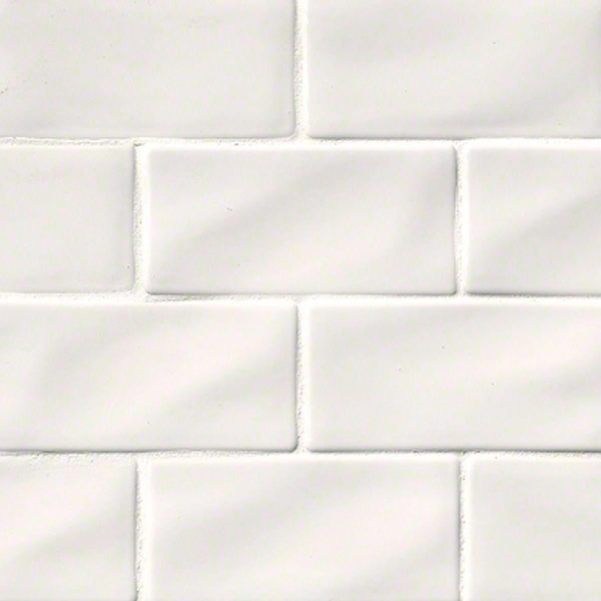 Whisper White Glazed Handcrafted 3x6 Ceramic Subway Tile Beach Pinterest Tiles And