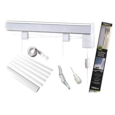 Caprice Roman Blind Corded Kit White Roman Blinds