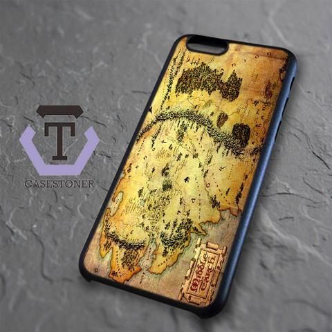 Brown Classic Middle Earth Map iPhone 6|iPhone 6S Black Case