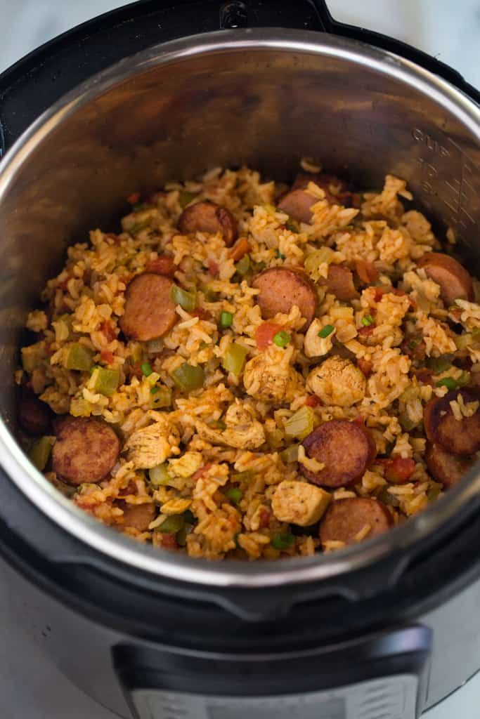 Instant Pot Chicken and Sausage Jambalaya #instantpotrecipes