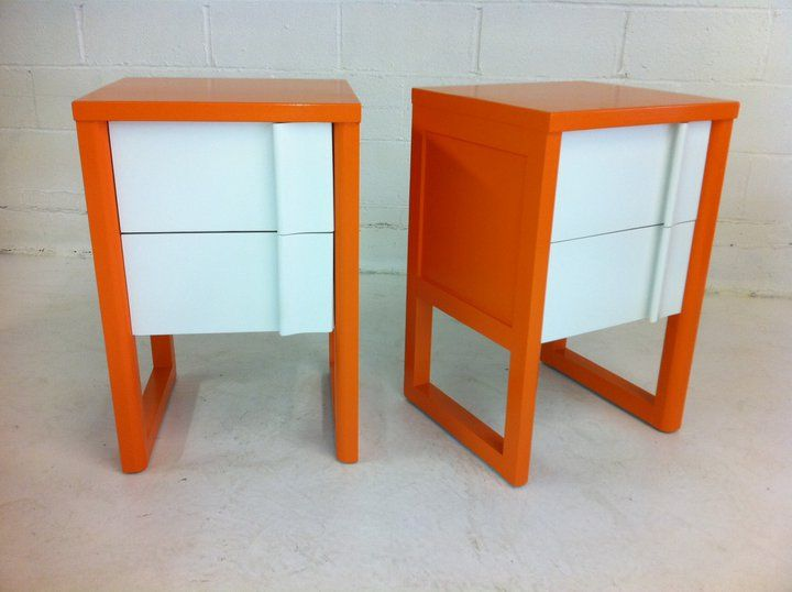 mid-century nightstands funky makeover