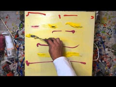 tutorial abstrakte kunst 5 wir malen ein bild acryl spachtel technik painting demo. Black Bedroom Furniture Sets. Home Design Ideas