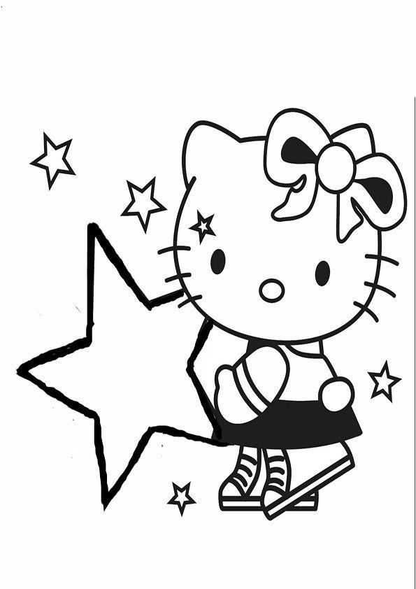 Ausmalbilder Hello Kitty | ausmalbilder | Pinterest | Ausmalbilder ...