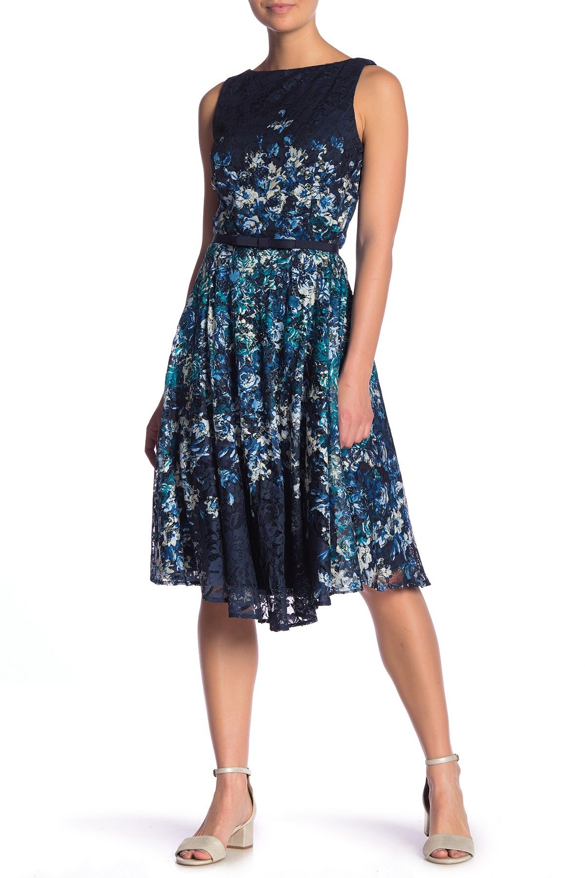 Gabby Skye Floral Print Lace Dress Fashion In 2019