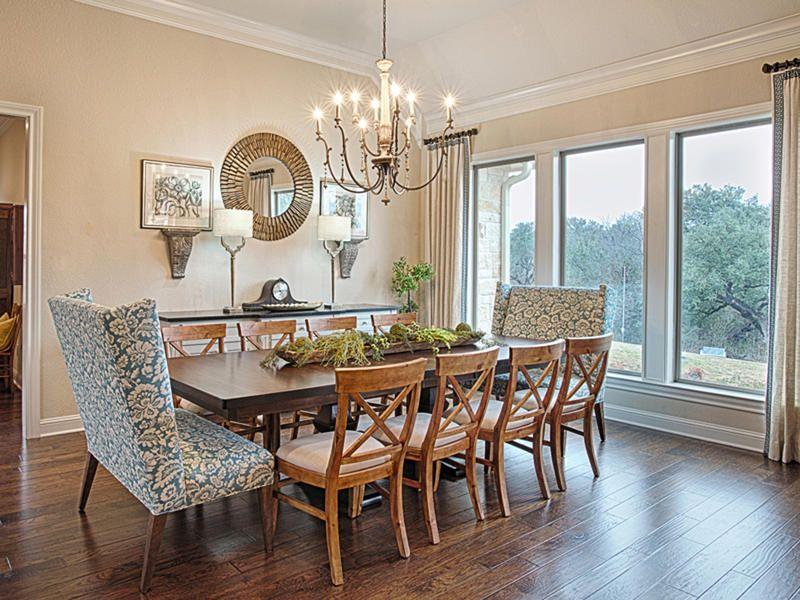 Una casa decorada con estilo rústico chic | Comedores rústicos ...