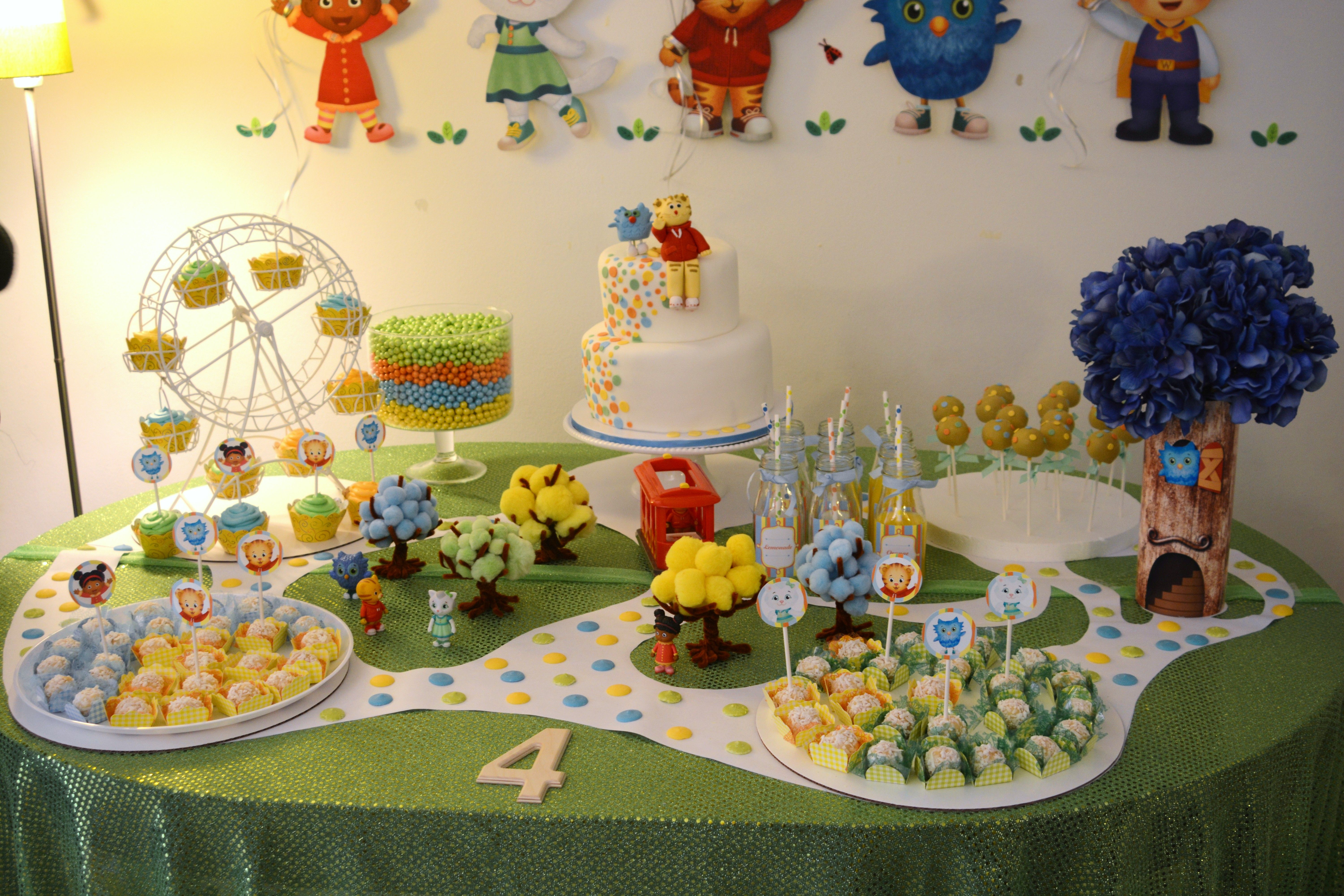 Daniel tiger party such a cute table set up jacks 2nd