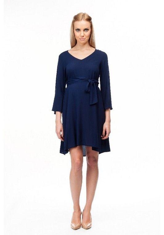Robe habillée de grossesse bleue marine - Pietro Brunelli - Taylorbox   grossesse  robe   6128a6f0959e
