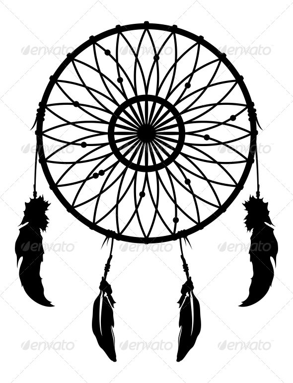 Dreamcatcher vector logos vector vector and graphic for Dream catcher graphic