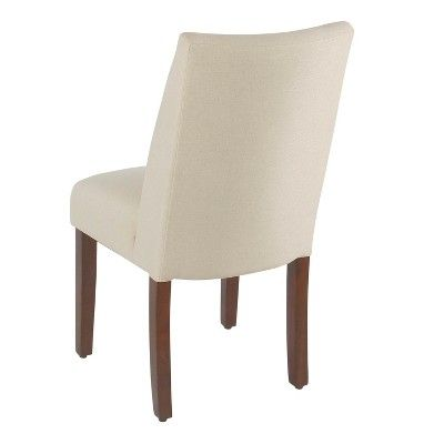 Homepop Set Of 2 Marin Curved Back Dining Chair Stain
