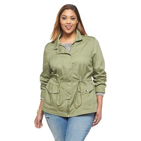 Women's Plus Size Twill Jacket Apple Green-Ava ... - Women's Plus Size Twill Jacket Apple Green-Ava & Viv So Cal