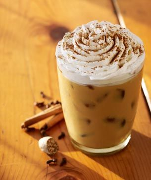 Iced Whole Milk Pumpkin Spice Latte from Starbucks.  My fave.