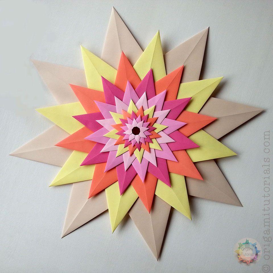 Christmas origami instructions hex star maria sinayskaya youtube - Origami Venetian Star Stella Veneziana Origami Tutorials