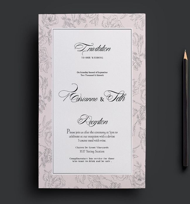 20+ Wedding Flyer Templates Free Download In Psd Format | 20+