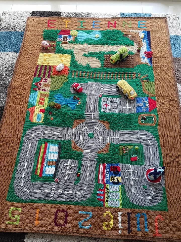 Happy Berry Crochet Crochet Road Play Mat Cal A Good