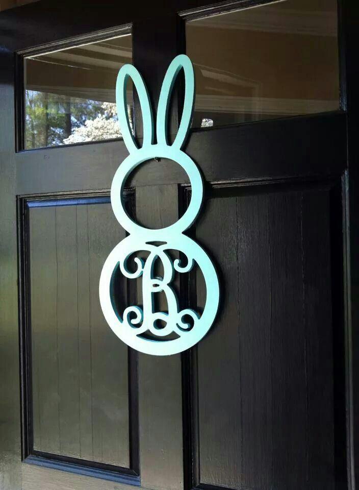 Bunny w/ initial for door