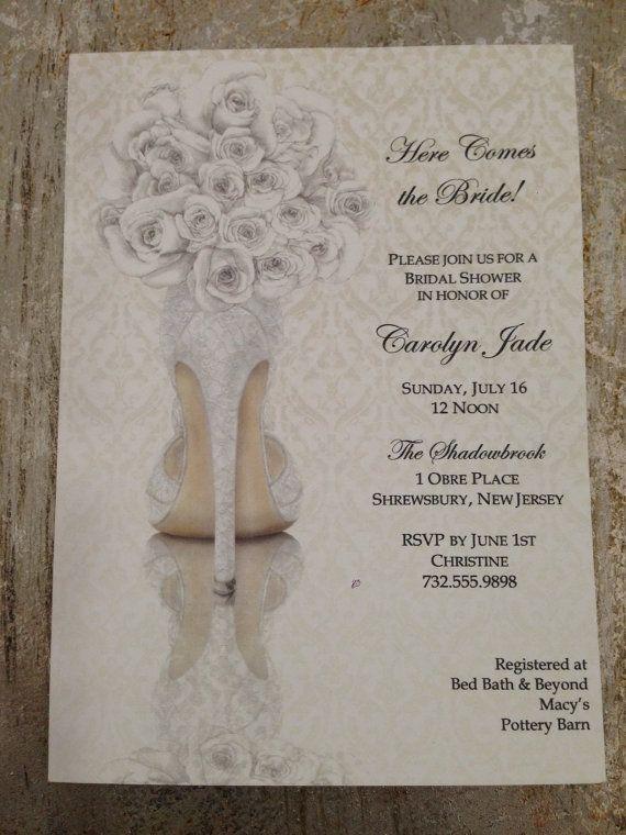 bridal shower invitations shoe theme bridal by knotjustweddings 1950