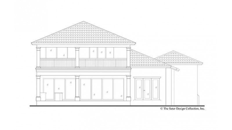 Rear Elevation architecture moderne Pinterest Bathroom plans