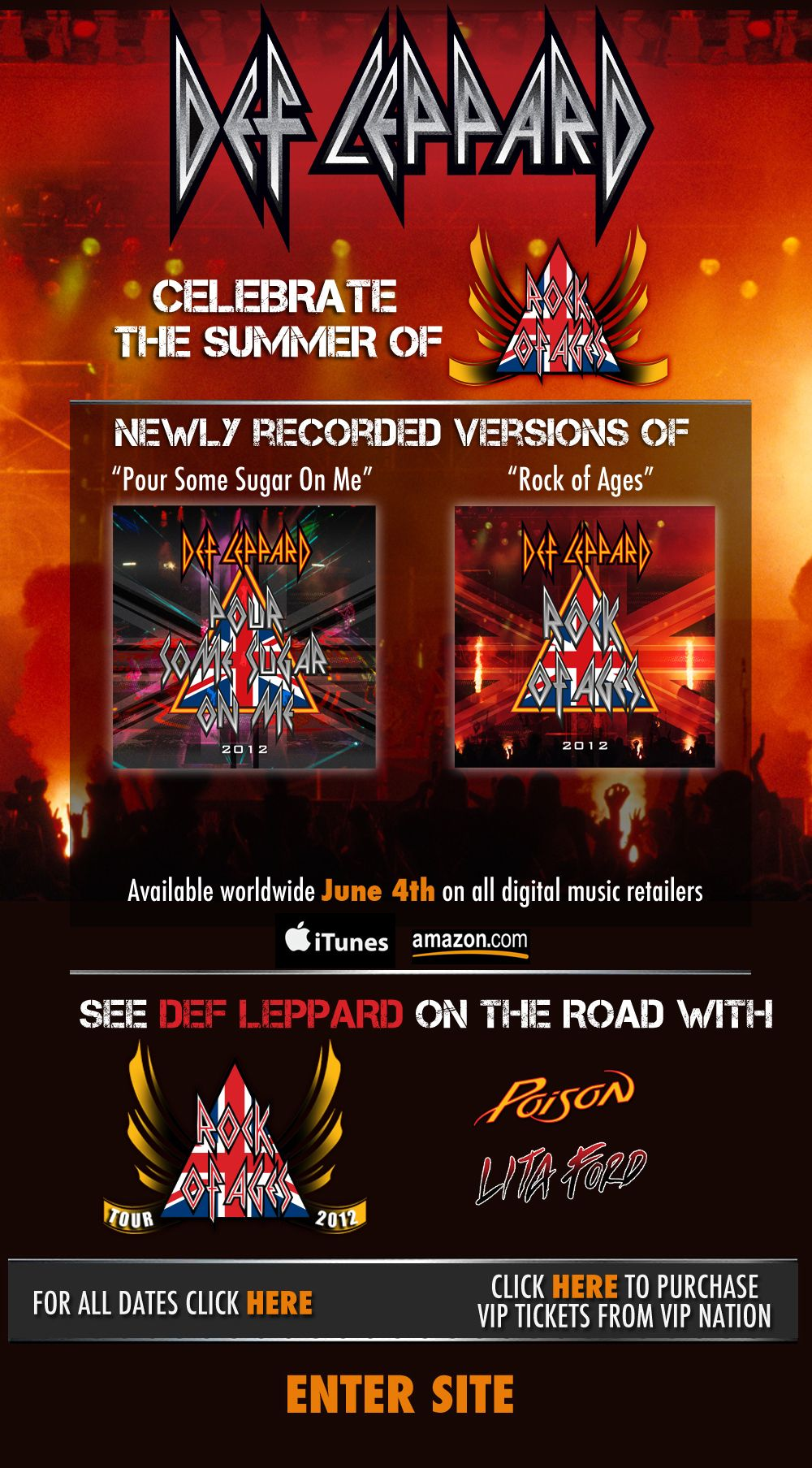 Def Leppard Rock Of Ages Tour With Poison And Lita Ford Going Def Leppard Rock Of Ages Tours