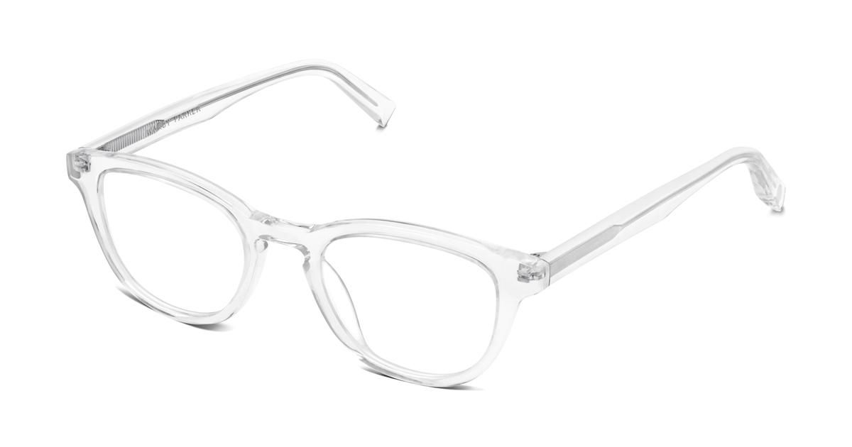 74a239d8336 Anders Eyeglasses in Crystal for Men. With a generously rounded browline  and flattering medium fit