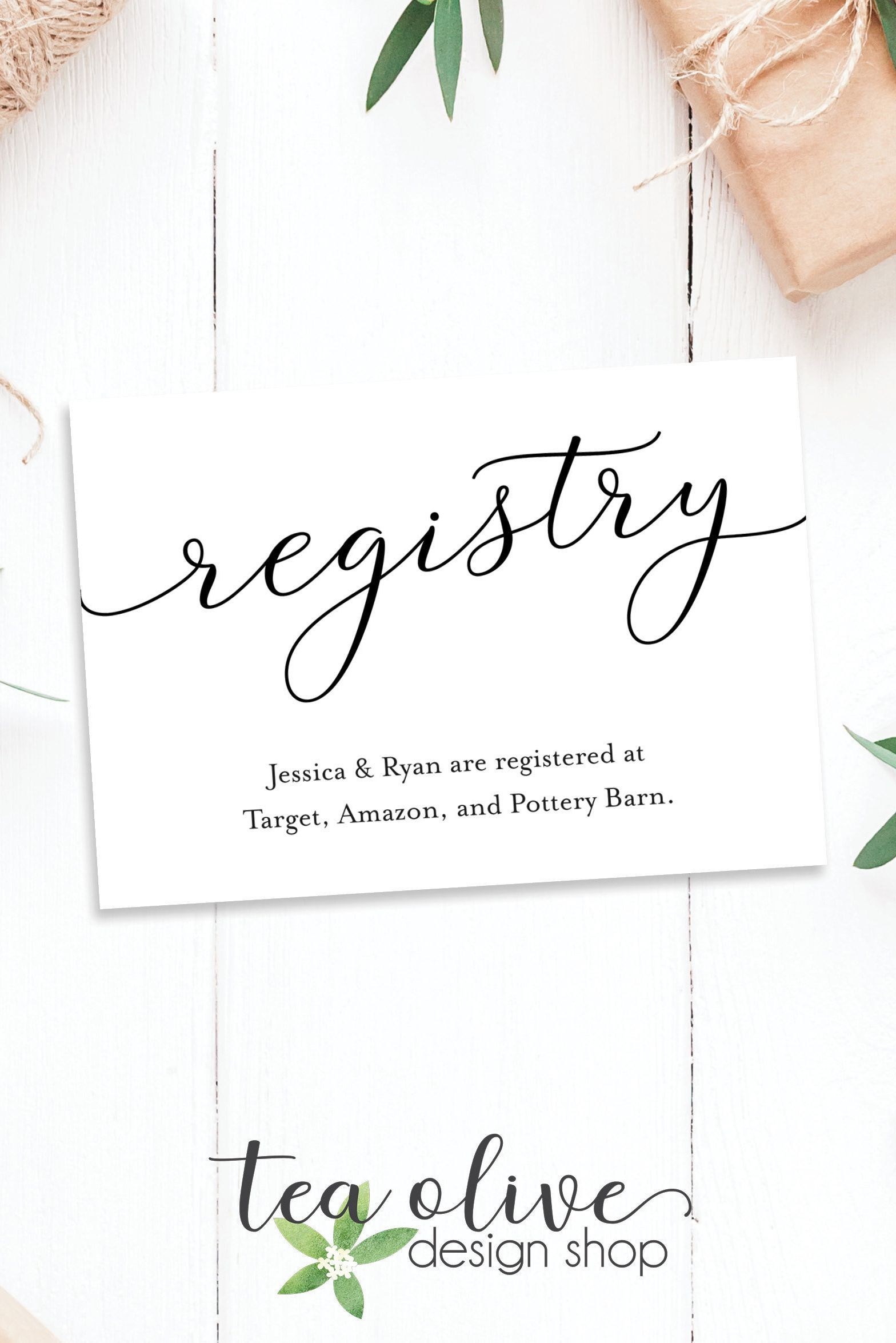 Registry Card Insert Baby Shower Gift Registry Card Etsy In 2021 Registry Cards Baby Shower Gift Registry Wedding Registry Cards