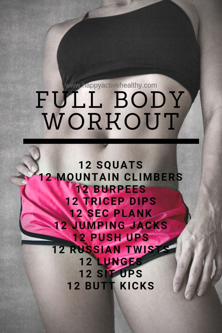 Get A Full Body Workout At Home. These Are Perfect 30 Day