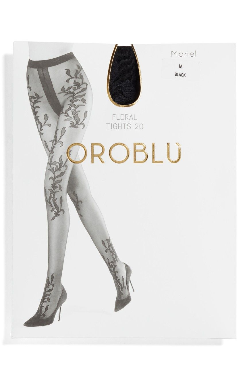 d8938e9f6873d Packaging for Mariel floral sheer tights available in Australia by Oroblu