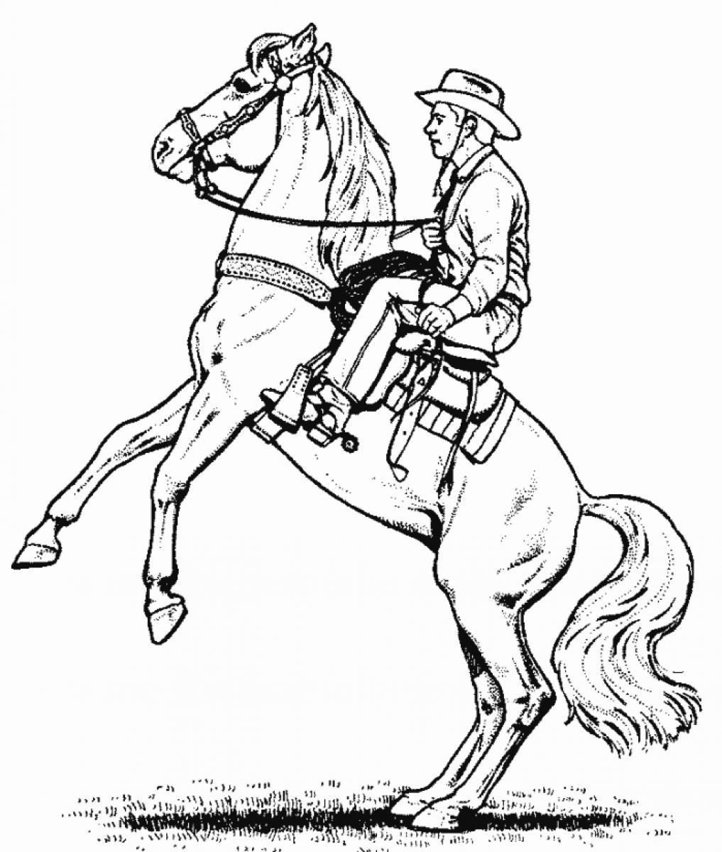 Free Cowboy Coloring Pages With Coloring Cowboy Coloring Pages Pages Online Horse Coloring Pages Horse Coloring Coloring Pages